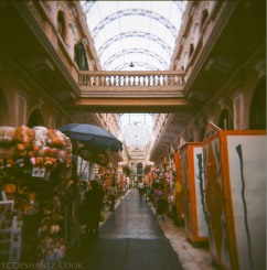 merchant alley in city center, Kodak Ektar 100