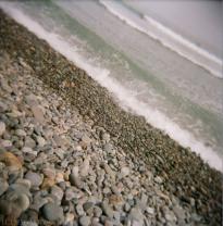 rocky beach, Kodak Portra 400