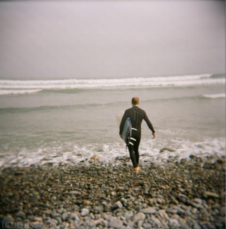 surfer, Kodak Portra 400