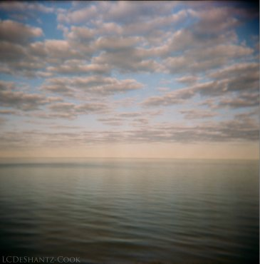 lake reflections, Holga