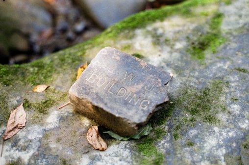 old stone, Buttermilk Falls, Kodak ColorPlus 200, Minolta SRT 102