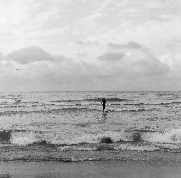 December surfer, Lake Michigan